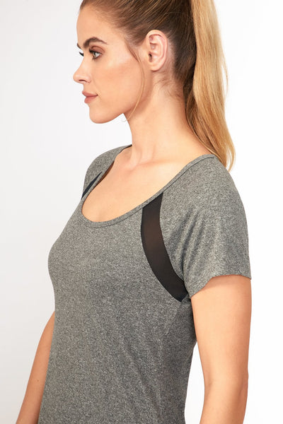 Contour Tee (Heather Black)