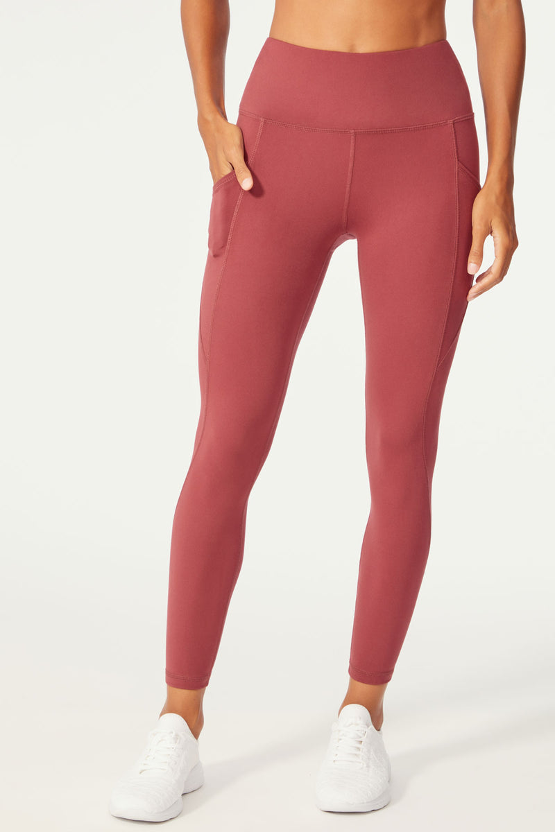 Alanna High Waist Legging (Oxblood Red)