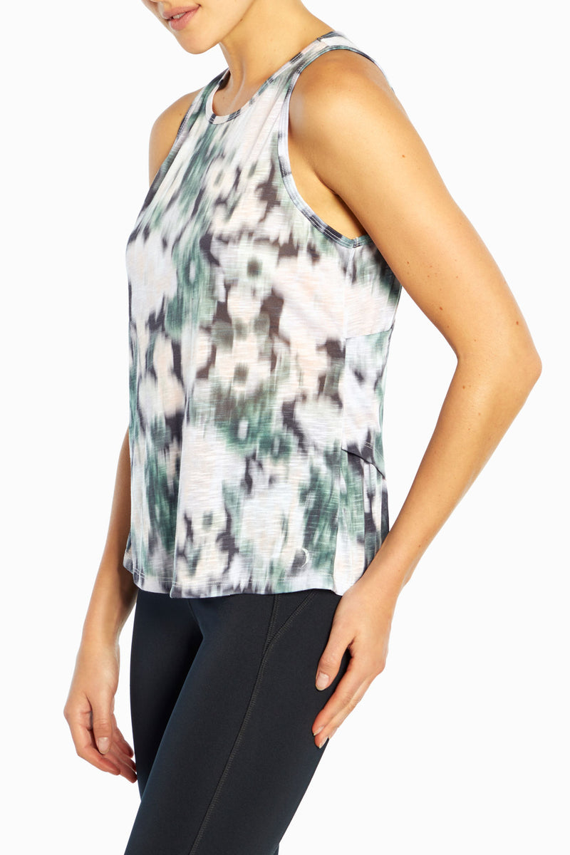 Valley Tank (Ombre Blue Ikat Floral)