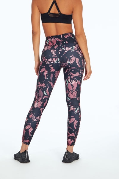Eclipse Print Legging (Multi Stained Abstract Floral)