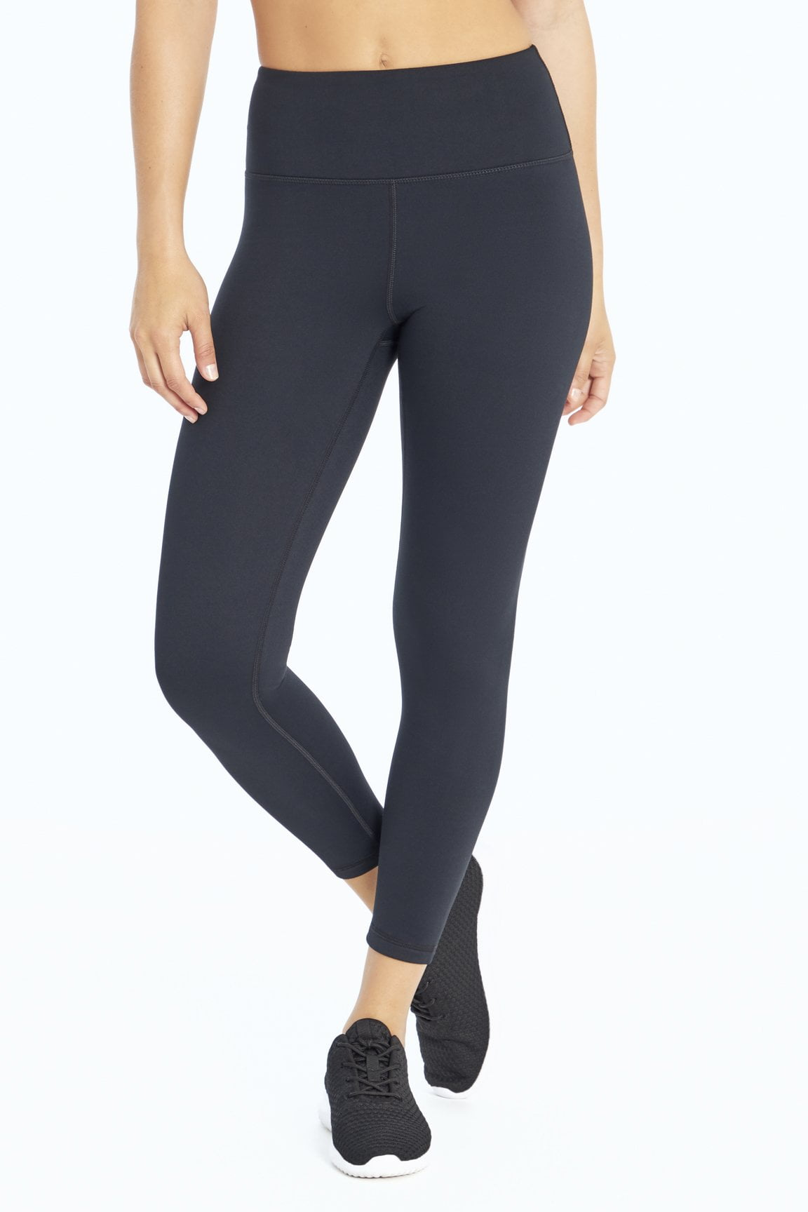 High Waist Cozy Tek-Fleece Legging (Black)