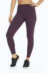 High Waist Cozy Tek-Fleece Legging (Wild Plum)