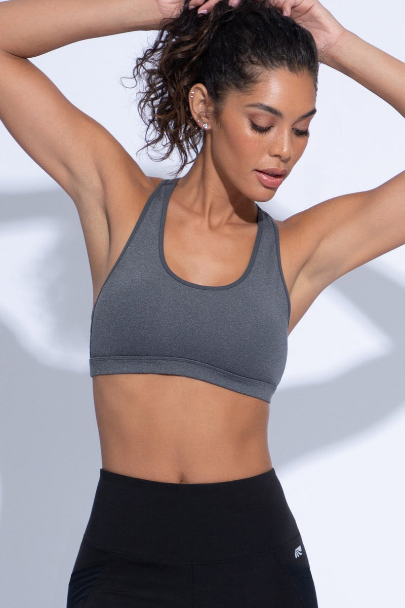 Christy Sports Bra (h charcoal w/ black)