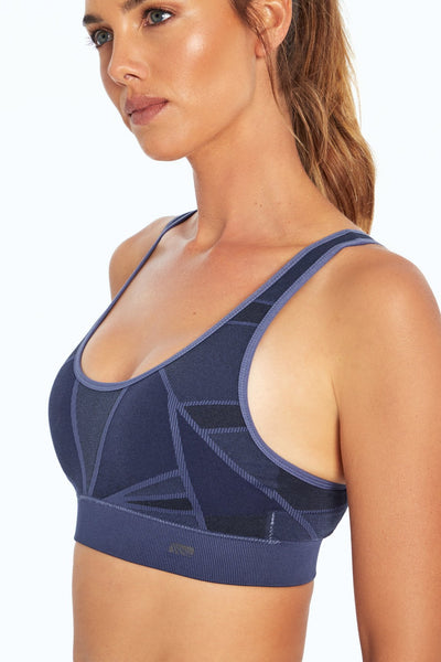 Leah Seamless Sport Bra (Crown Blue)