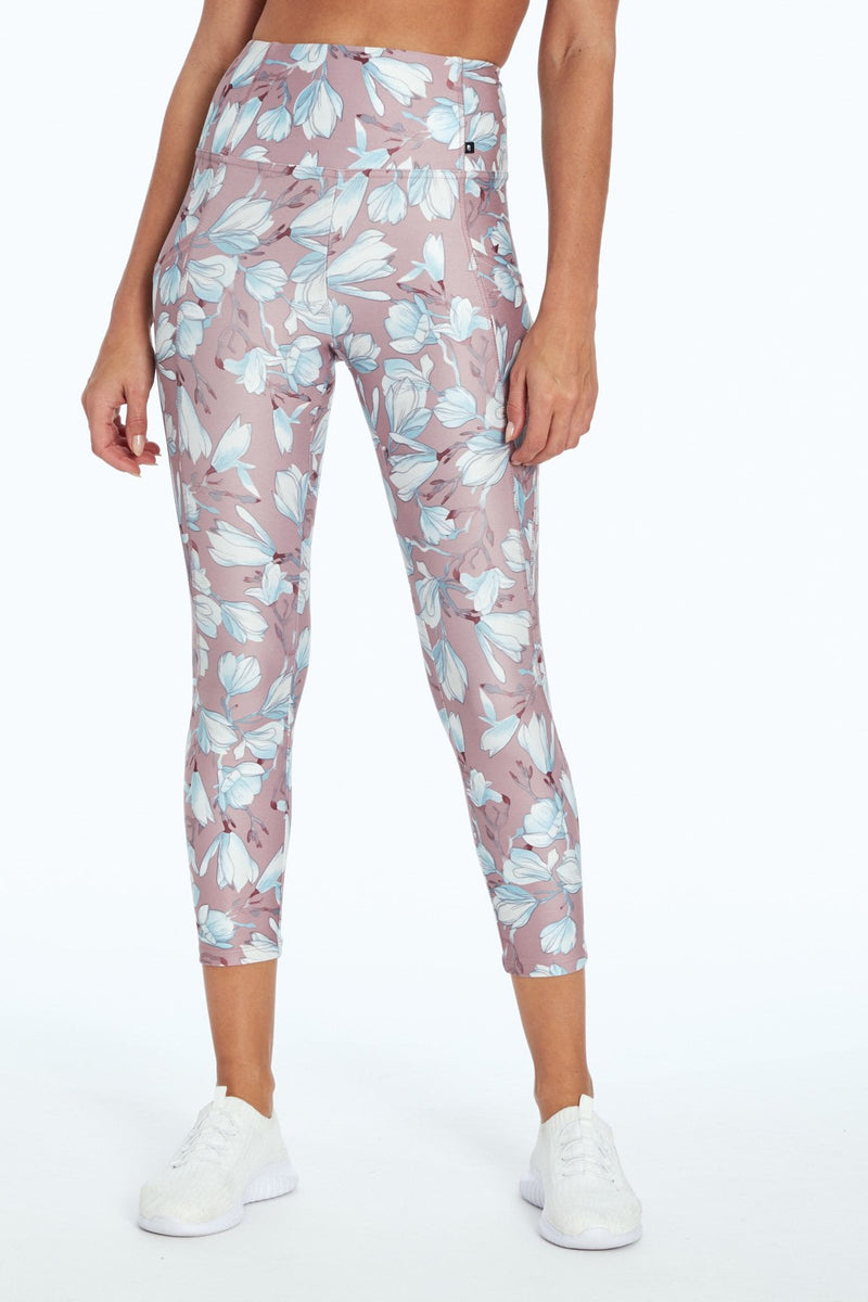 Haven High Waist Capri (Magnolia Illustration Berry)