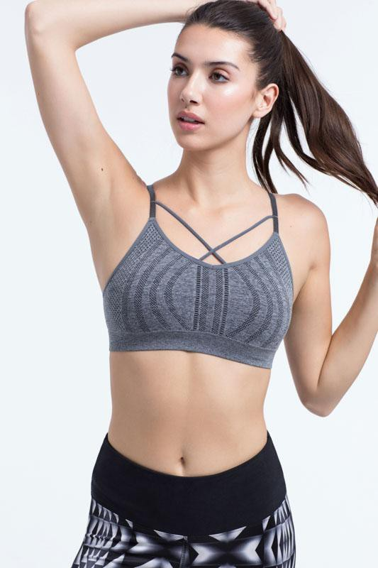 Ruby Sports Bra (heather charcoal)