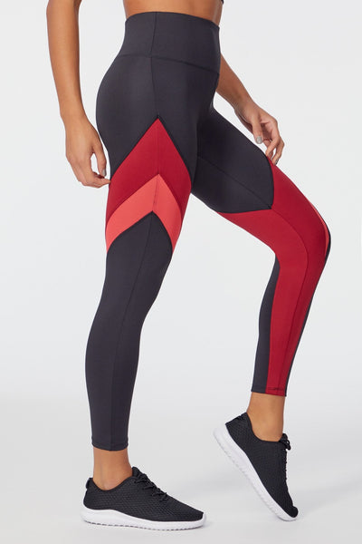 Shayla Legging (BLACK/BIKING RED)