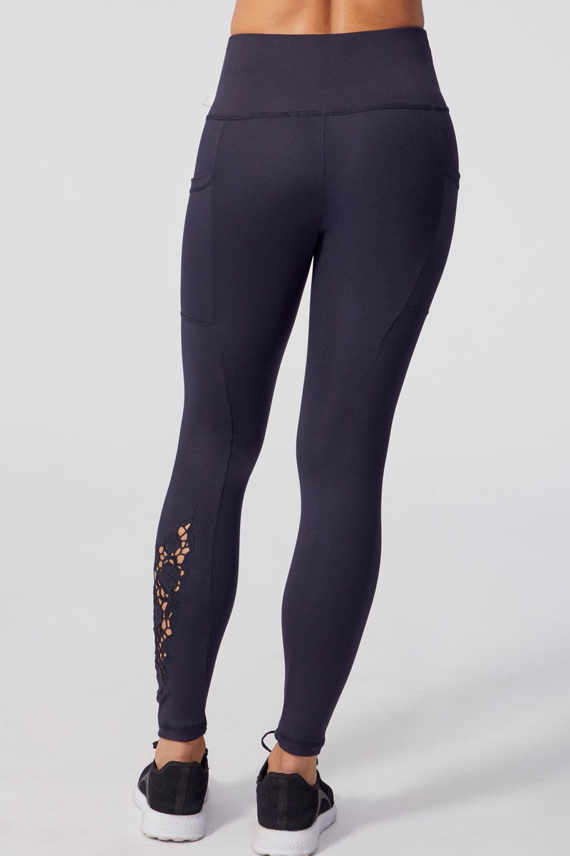 Evita Embroidered Legging (Black)