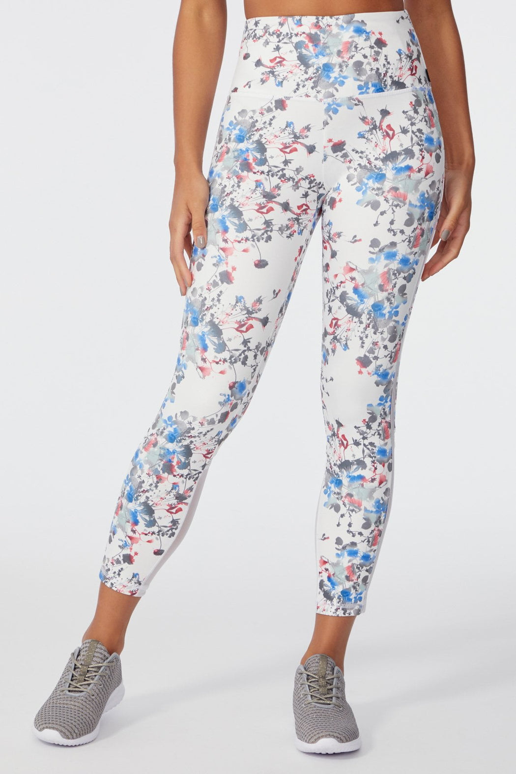 Genesis Ankle Legging (WHITE PRESSED FLORAL)