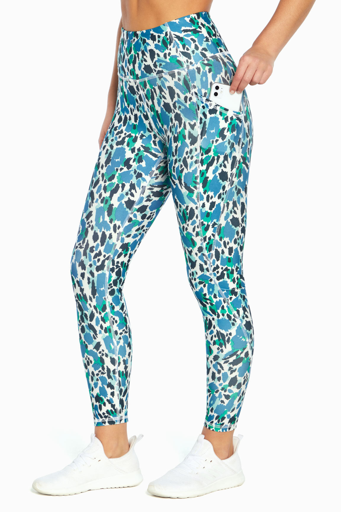 Sia Ankle Legging (Scribble Cats Jade)