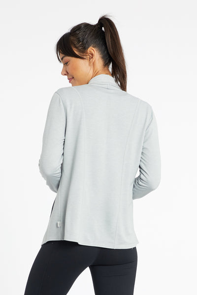 Desi Draped Cardigan (H. Grey)