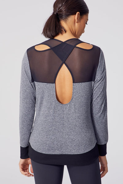 Carisa Long Sleeve (Heather Black)