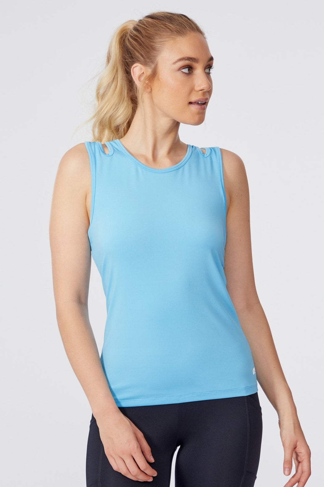 Layla Layered Tank (Ethreal Blue)