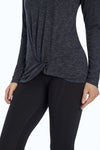 Grace Long Sleeve Tee (H. Black)