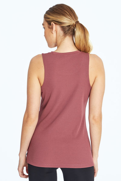 Robbie Ribbed Tank (Crushed Berry)