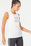 Empower Graphic Muscle Tee (White)