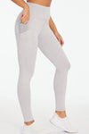 Melange Eclipse Legging (Light Heather Grey)