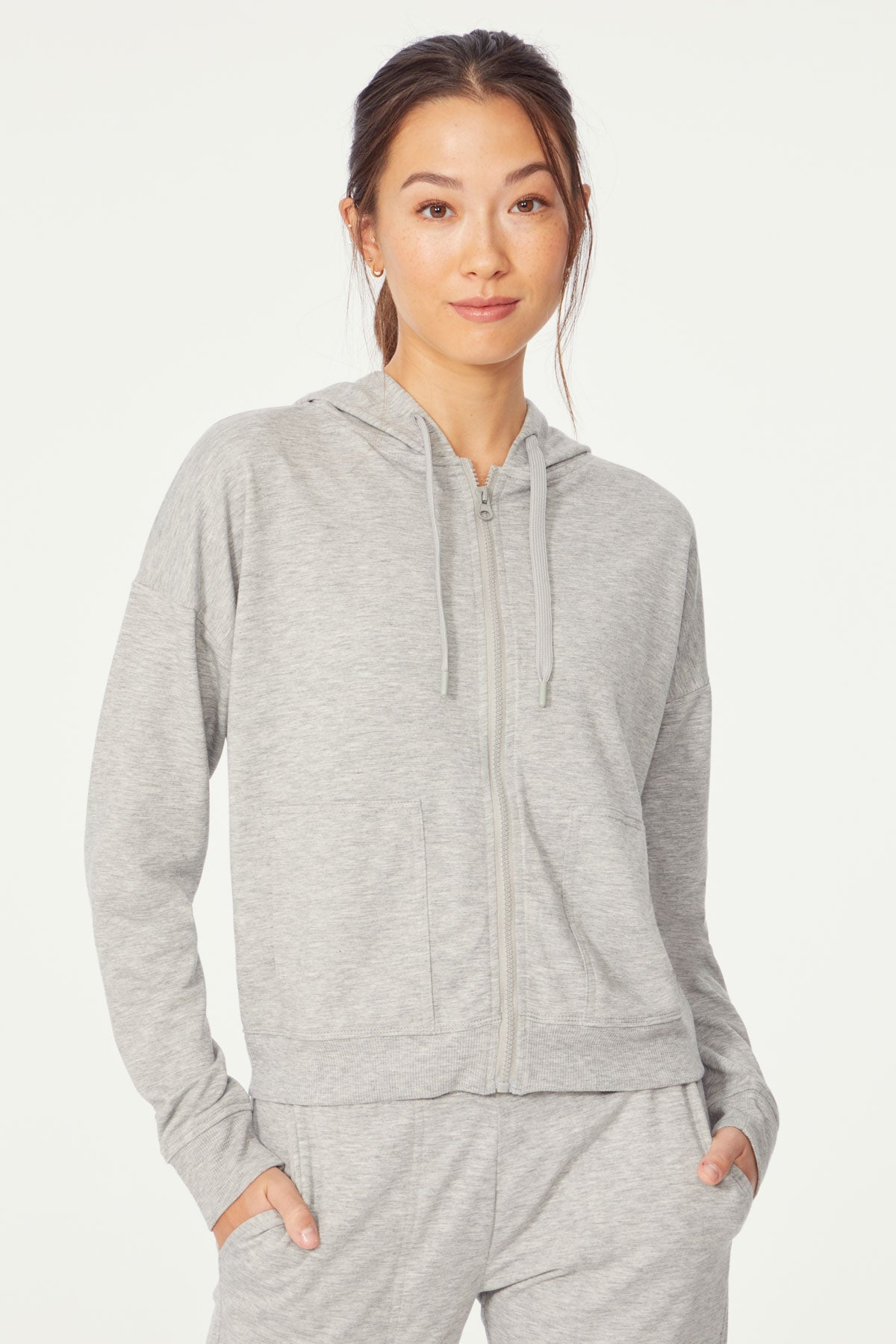 Layla Hooded Jacket (H. Grey)