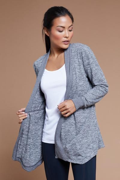 Angela Cardigan (heather black)