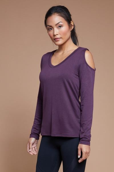 Cold Shoulder Top (black berry)