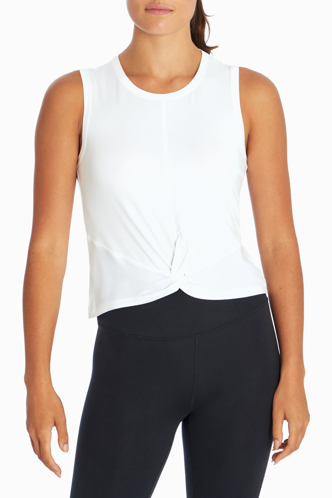 Aura Twist Tank (White)
