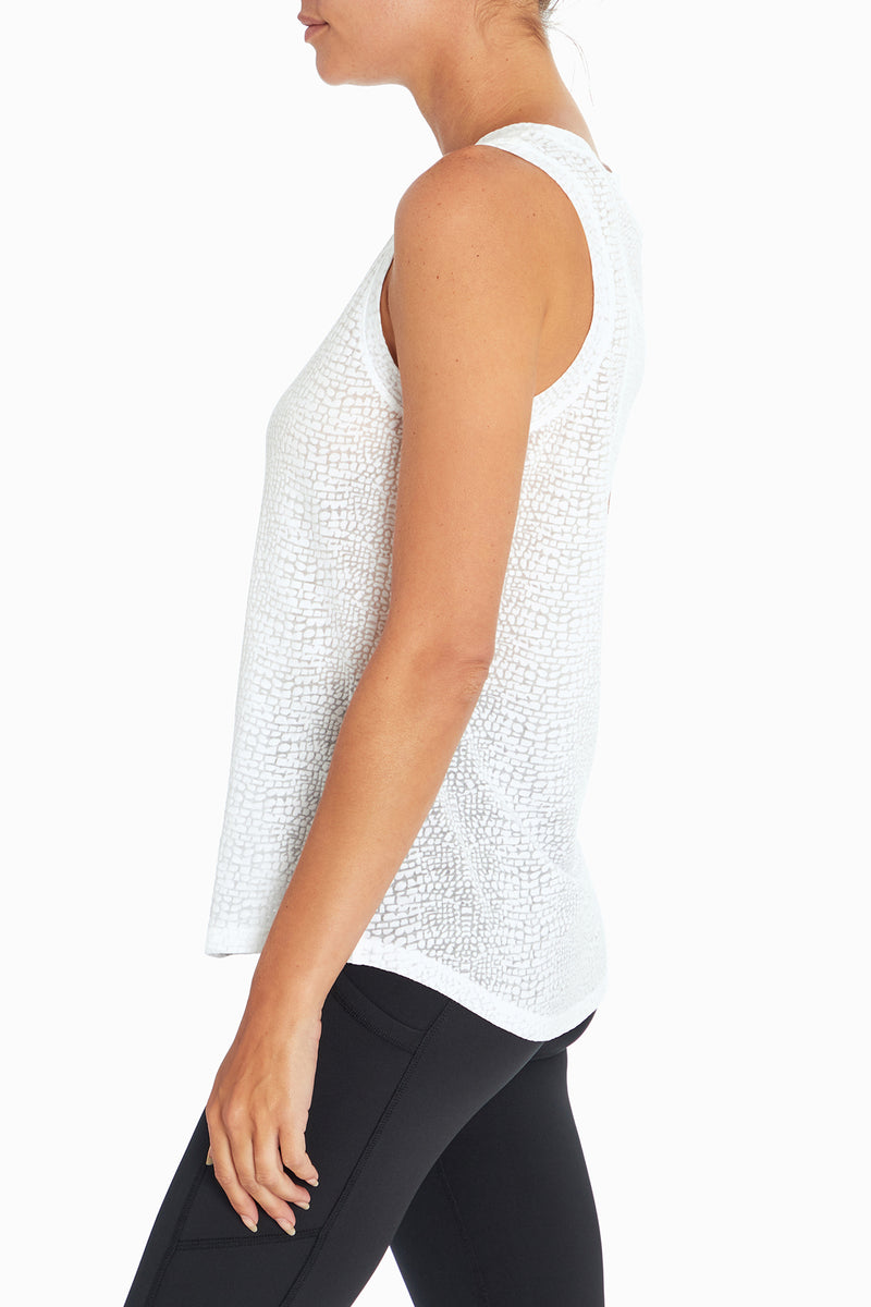Sonia Burnout Tank (White)