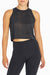 Essie Crop Tank (Black)