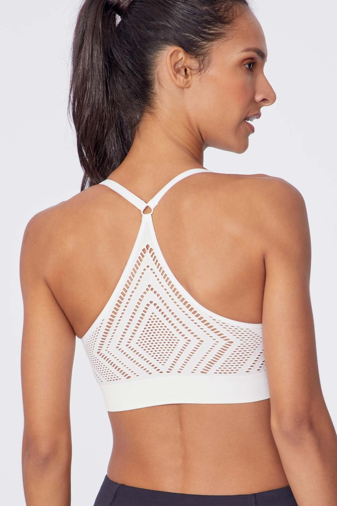Delain Seamless Sports Bra (White)