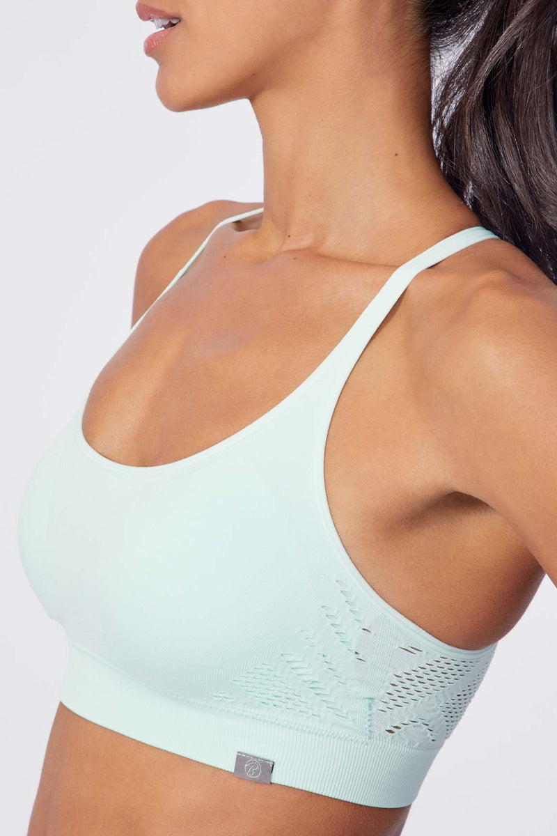 Delain Seamless Sports Bra (Fair Aqua)