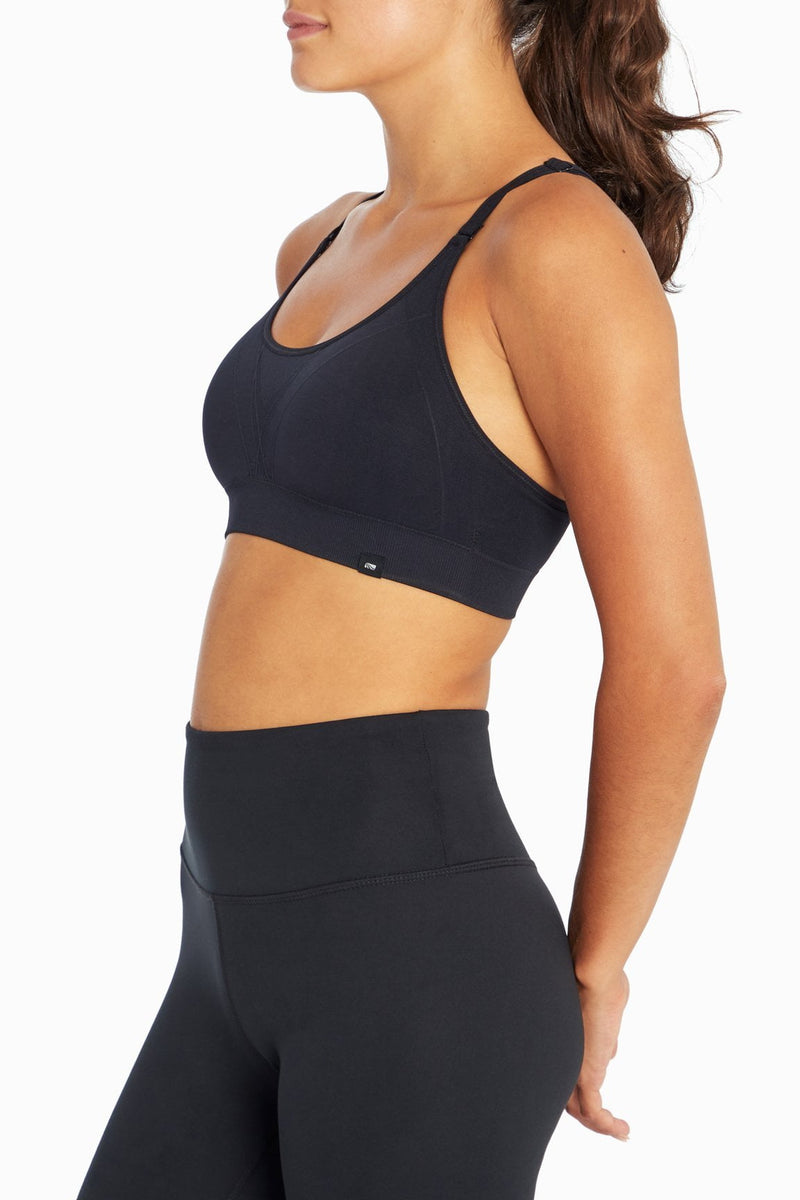 Juliette Seamless Sport Bra (Black)