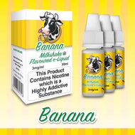 Banana by Milkshake Flavored E-Liquids [10ml TPD Bottle] at VapeRanger UK Wholesale