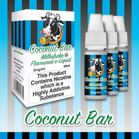 Coconut Bar by Milkshake Flavored E-Liquids [10ml TPD Bottle] at VapeRanger UK Wholesale