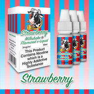 Strawberry by Milkshake Flavored E-Liquids [10ml TPD Bottle] at VapeRanger UK Wholesale