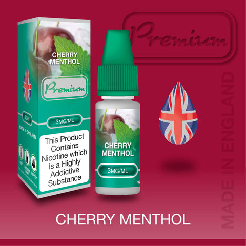 Cherry Menthol by Premium eJuice [10ml TPD Bottle] at VapeRanger UK Wholesale