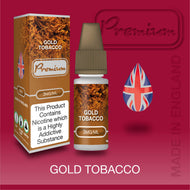 Gold Tobacco by Premium eJuice [10ml TPD Bottle] at VapeRanger UK Wholesale