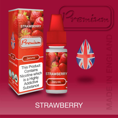 Strawberry by Premium eJuice [10ml TPD Bottle] at VapeRanger UK Wholesale