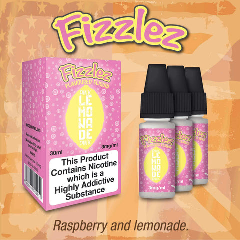 Fizzlez Pink Lemonade by Taste Of America eJuice [10ml TPD Bottle] at VapeRanger UK Wholesale