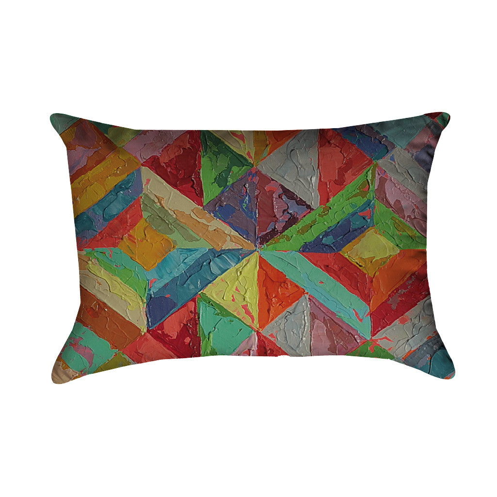 Stained Glass Diamond Pillow