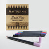 Masterclass Premium Dual Tip Brush Markers, 24 Color, Non-Toxic Water Based Double Tip Pens