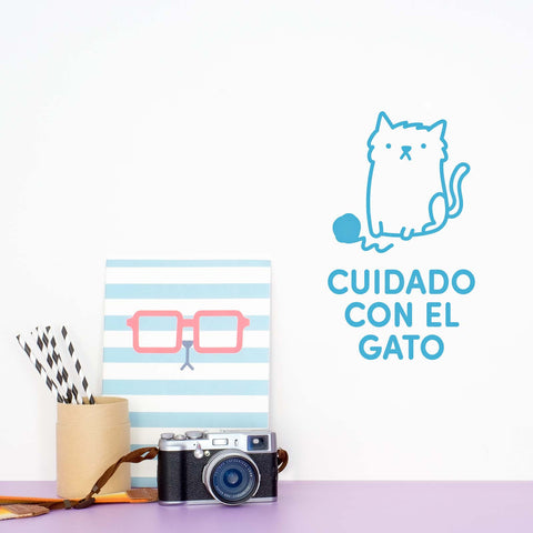 Cuidado con el Gato - Decoración Original | Made of Sundays