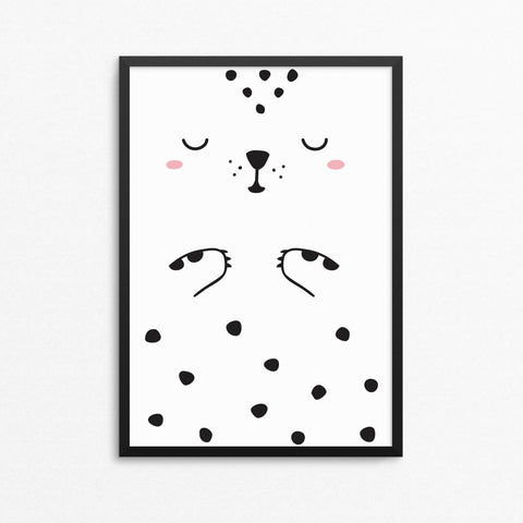 Lámina Luca el Leopardo - Decoración Infantil | Made of Sundays