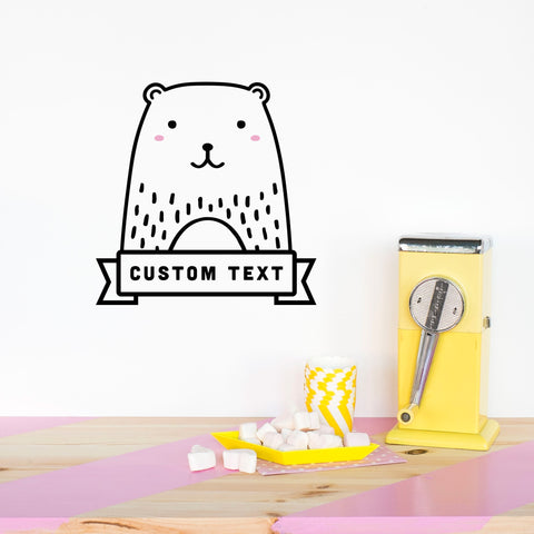 Vinilo Mini Oso Personalizado - Decoración Infantil Original | Made of Sundays