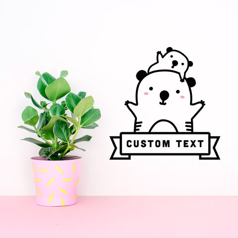 Vinilo Mini Koala Personalizado - Decoración Infantil Original | Made of Sundays