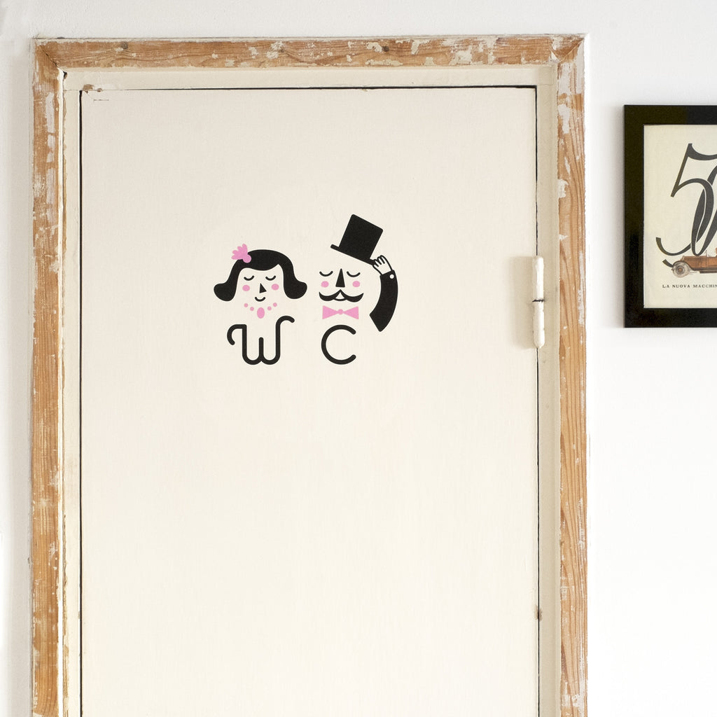 Signo WC - Decoración Oficina | Made of Sundays