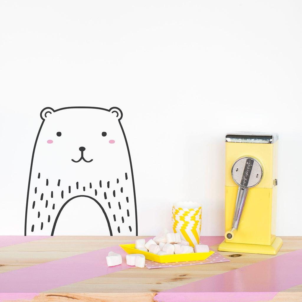 Vinilo Mini Oso - Decoración Infantil Original | Made of Sundays