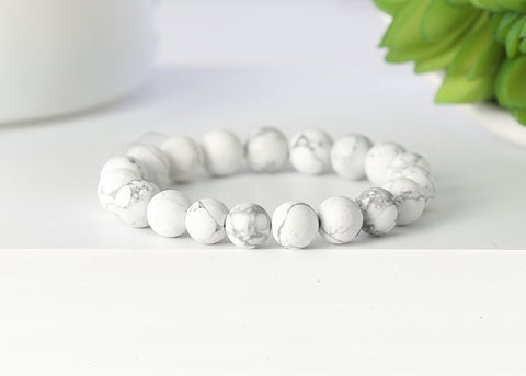 Matte White and Gray Marble 10mm