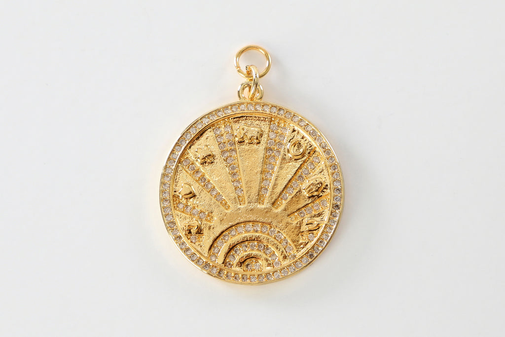 Gold Lucky Coin Charm