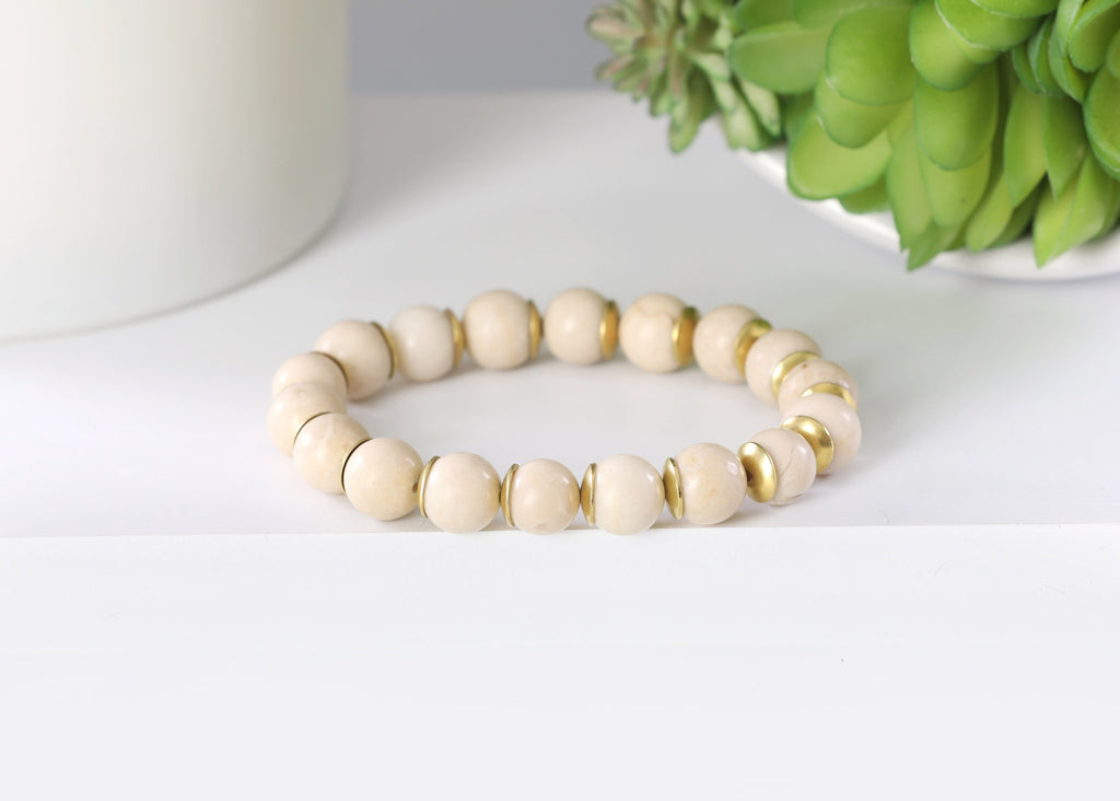 Cream Marble/Gold Plates 10mm
