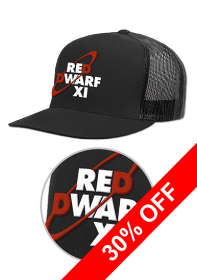 Black Red Dwarf XI Logo Trucker Cap