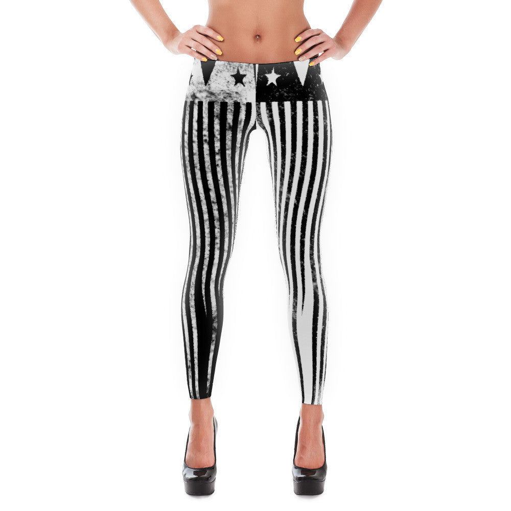 """Bipolar Misfit"" Leggings [BLACK + WHITE]"